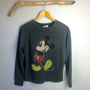 Disney Distressed Black Mickey Sweatshirt